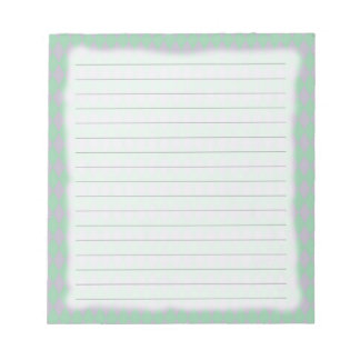 French Country Lilac & Teal Harlequin Note Pad