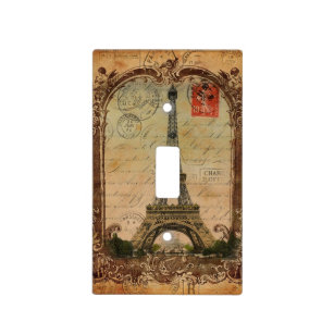 French Country Modern Vintage Paris Eiffel Tower Light Switch Cover