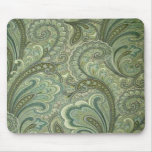 French Country Pretty Paisley Sage Mousepad