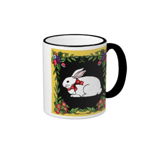 French Country Rabbit Coffee Mugs