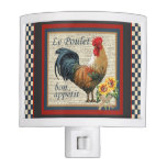 French Country Rooster Bon Appetit Night Light