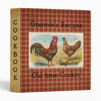 French Country Rooster Hen Cookbook Avery Binder