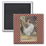 French Country Rooster Hen Fridge Magnet