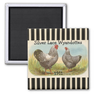 French Country Rooster Hen Poultry Fridge Magnet