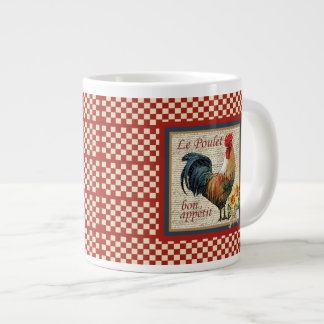 French Country Rooster Large Coffee Mug