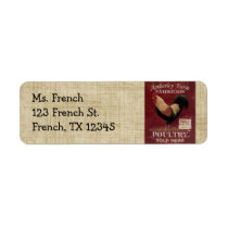 French Country Rooster Return Address Labels