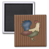 French Country Rooster Wine Fridge Magnet
