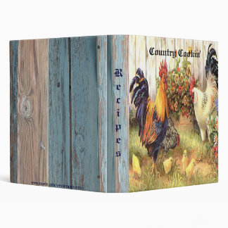 French Country Roosters Hen Baby Chicks Binder