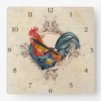 French Country Roosters Vintage Antique Home Decor Wallclocks