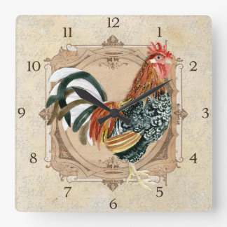 French Country Roosters Vintage Antique Home Decor Clock