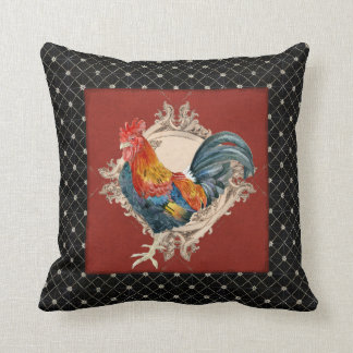 French Country Roosters Vintage Antique Home Decor Throw Pillow
