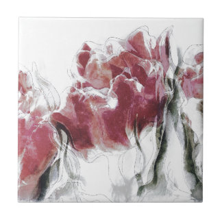 French Country Roses Ceramic Tile