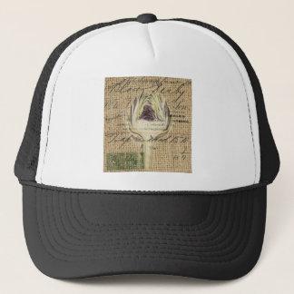 french country scripts modern vintage artichoke trucker hat