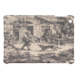 French Country Toile Black Pattern Speck iPad Case