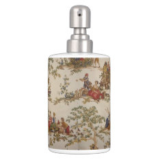 French Country Toile Multi Shades Soap/set Bath Set at Zazzle