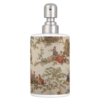 French Country Toile Multi Shades Soap/set Bath Set