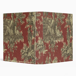 French Country Toile Pattern Avery Binder