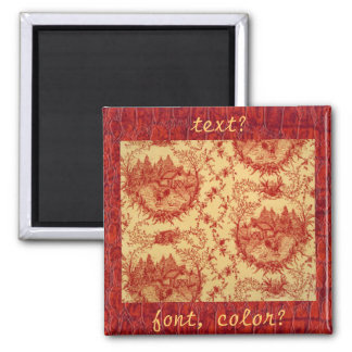 French Country Toile Pattern Hen House Magnet