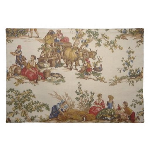 French Country Toile Placemats Zazzle