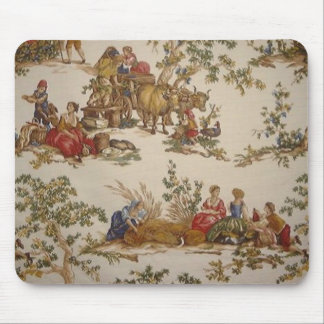 French Country Vintage Toile print mousepad