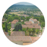 French Countryside in Provence Photograph Melamine Plate
