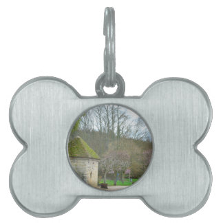 French Countryside in the spring purple flowers Pet ID Tag