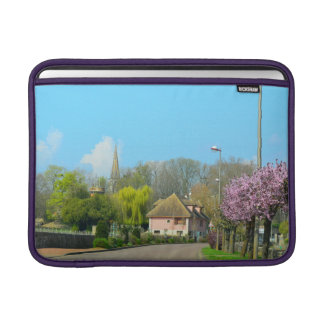 French Countryside in the spring w/purple flowers MacBook Sleeves