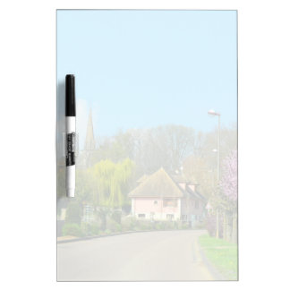 French Countryside village in the spring with purp Dry Erase Board