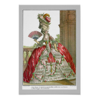 French Court Dress 1778 Poster