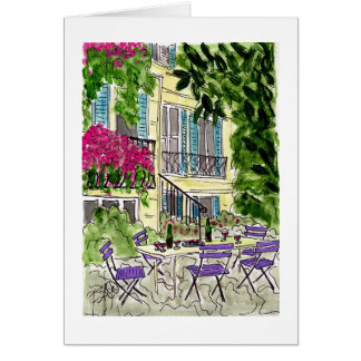 French Courtyard Wine Card