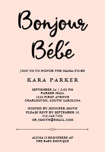 French baby shower invitations zazzle french couture black and pink baby shower invitation filmwisefo