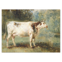 FRENCH COW ANTIQUE ART TISSUE PAPER