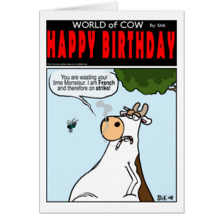 French Cow on Strike Card