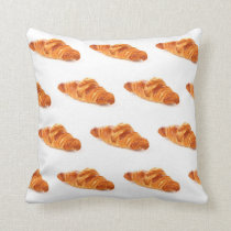 French Croissant Pillow, Bakery Pastry Cushion