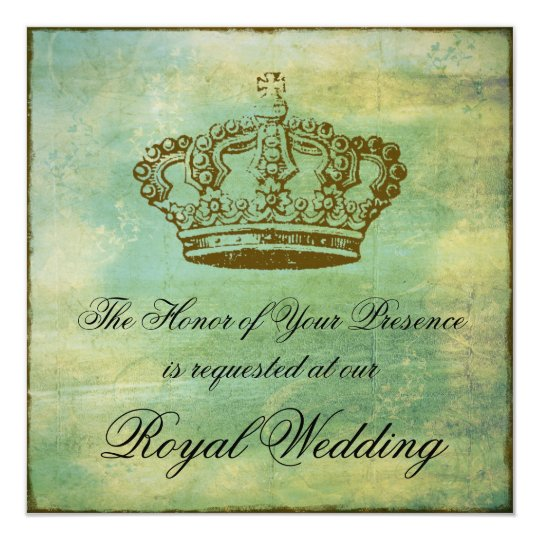 French Crown Elegant Invitations Announcements
