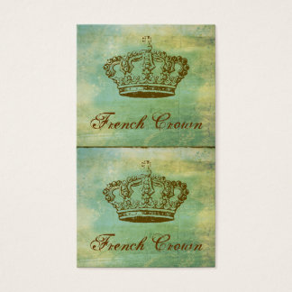 French Crown Mini Cards or Hang Tags Green
