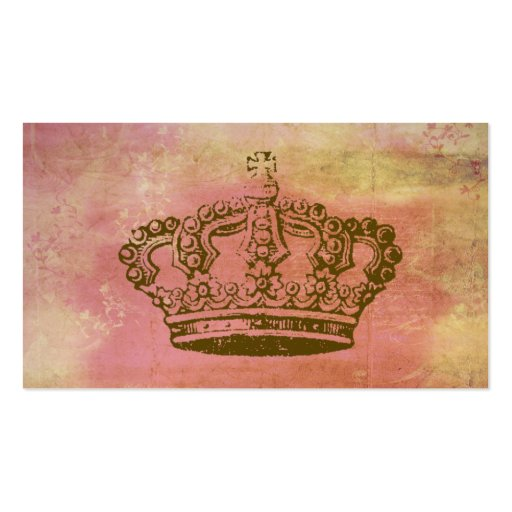 French crown vintage style business cards zazzle for Business cards vintage style