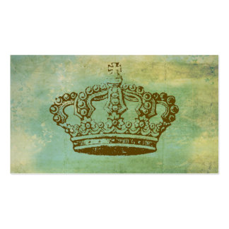 French Crown Vintage Style Business Cards Green