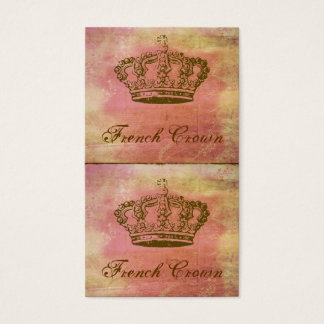 French Crown Vintage-Style Mini Biz Cards or Tags