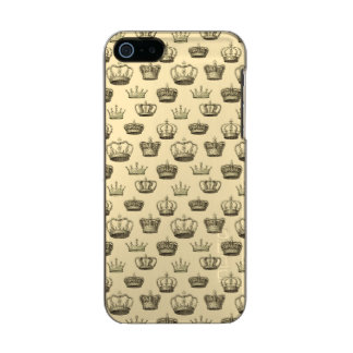 French Crowns on Gold Metallic iPhone SE/5/5s Case