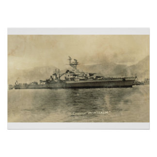French Cruiser, Montcalm Poster