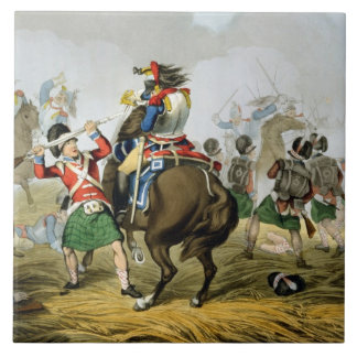 French Cuirassiers at the Battle of Waterloo, Char Ceramic Tile