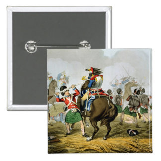 French Cuirassiers at the Battle of Waterloo, Char Pinback Button