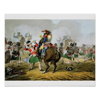 French Cuirassiers at the Battle of Waterloo, Char Poster