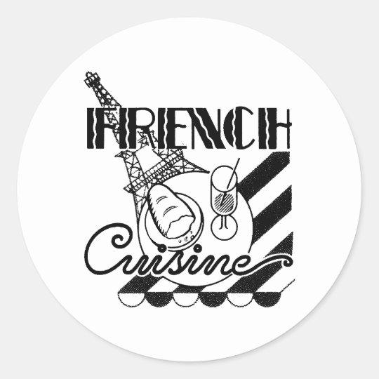 French Cuisine Classic Round Sticker