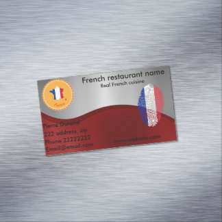 French cuisine magnetic business card