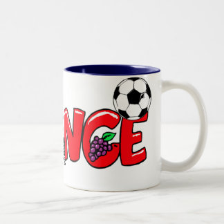 French culture football fans gifts Two-Tone coffee mug