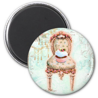 French Cupcake Victorian Style Fridge Magnets