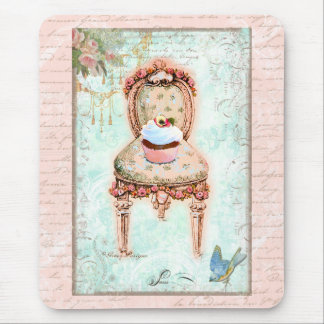 French Cupcake Victorian Style Mouse Pad
