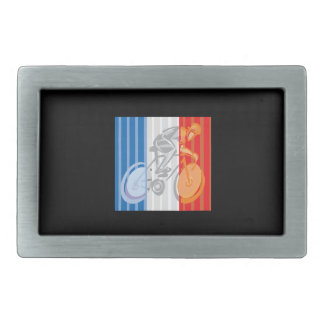 French Cyclist Rectangular Belt Buckles